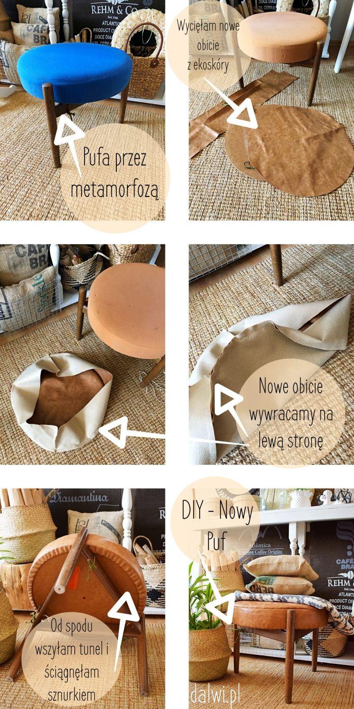 Diy Metamorfoza Pufy Place Card Holders Upholstery Diy Diy