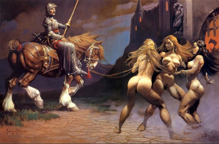 FRANK FRAZETTA - Three Witch's - print by illustrateurs.blogspot.com.es