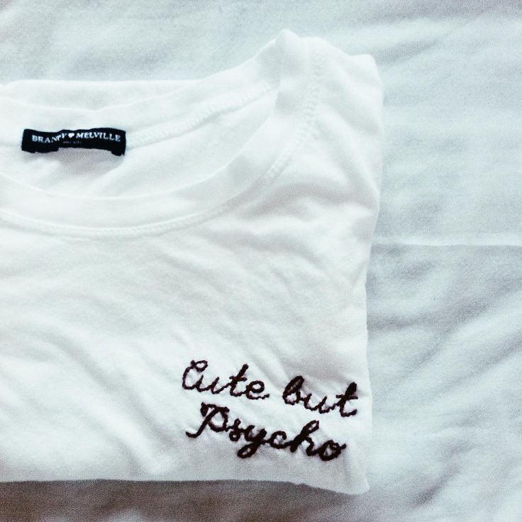 Brandy melville cute but psycho t-shirt.