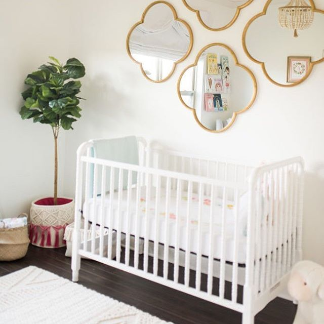 Just added to our project gallery - this simple and chic baby girl nursery. (Psssst. The other side is just darling!)