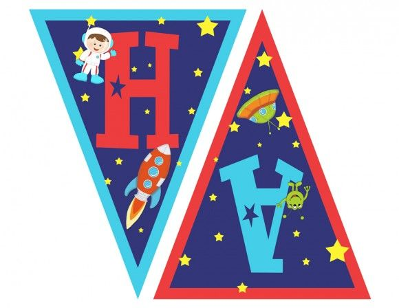catch_my_party_outerspace_Pennant_Banner_ha