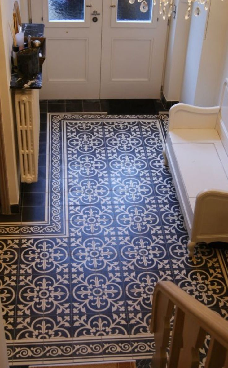 Love the tiles! It would also look great in the bathroom or kitchen.