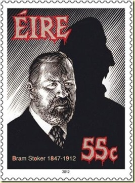 "Postage Stamp - Bram Stoker who wrote famous horror novel "" Dracula"""