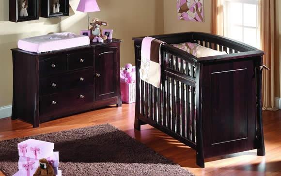 Beautiful dark wood for baby furniture dream house Dark wood baby furniture