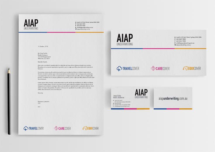 Logo design with stationery and banners for AIAP Underwriting