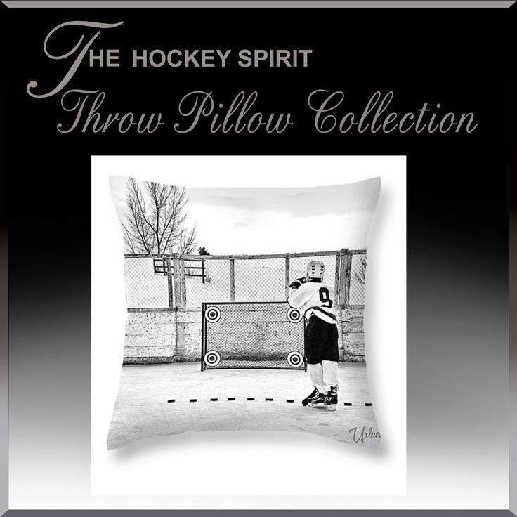 Throw Pillows by Hockey Spirit. Visit www.HockeyArt.org to browse over 100 different pillow styles.