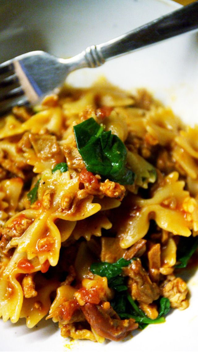 Farfalle with Porcini, Veal, and Spinach | Favorite Edible Recipes ...