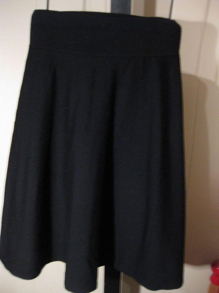 WOMANS BLACK MERINO WOOL KNIT CIRCLE SKIRT TALBOTS PETITE PLUS 3XP 22WP $134 #Talbots #ALine