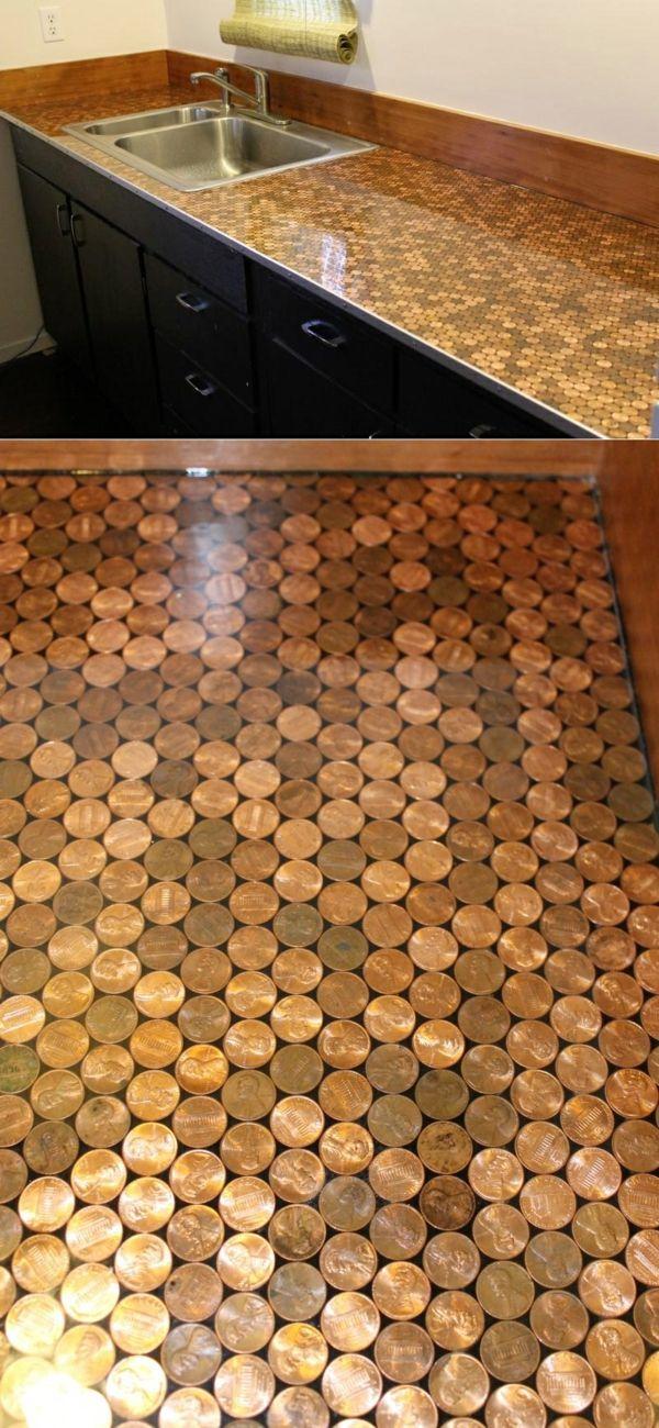 Arbeitsplatten Für Küchen Münzen Deoration Raffrollo Küche