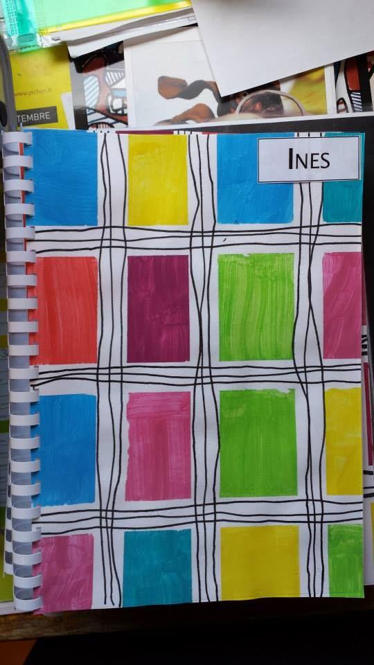 Formes - lignes horizontales & verticales - carré - quadrillage