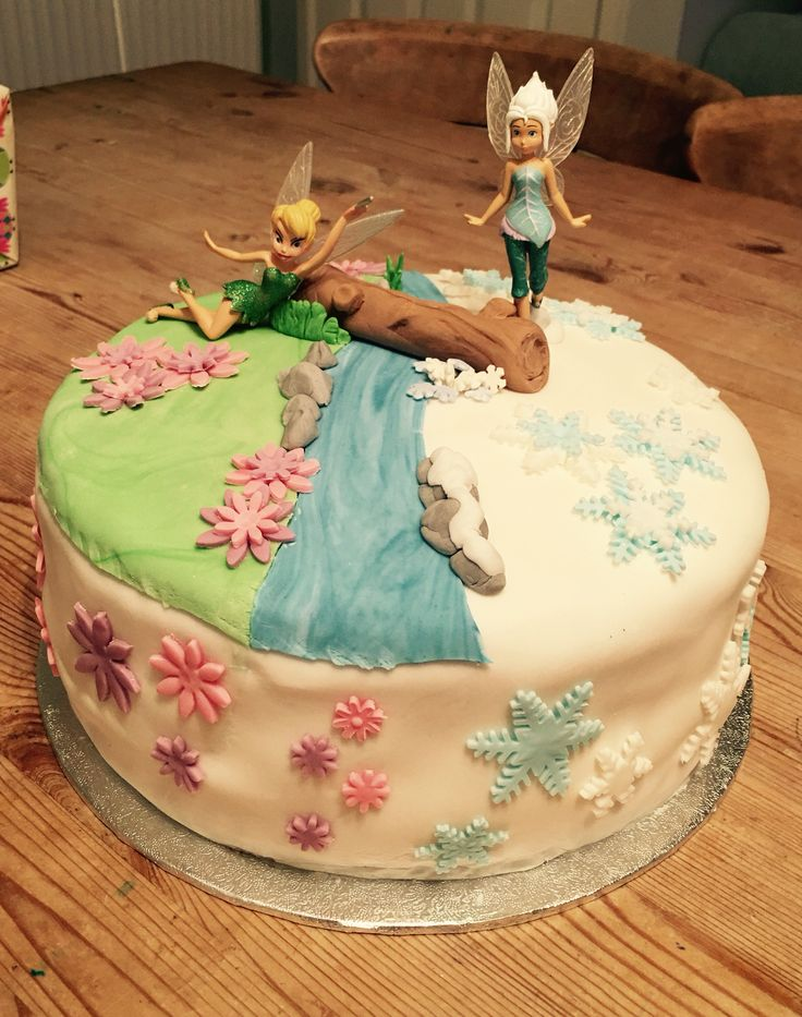 Tinkerbell & Periwinkle, secret of the wings birthday cake