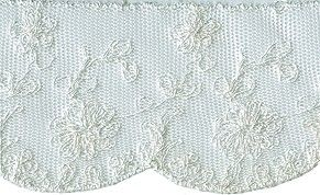 2 1/2'' - Netting Lace - Cream, White