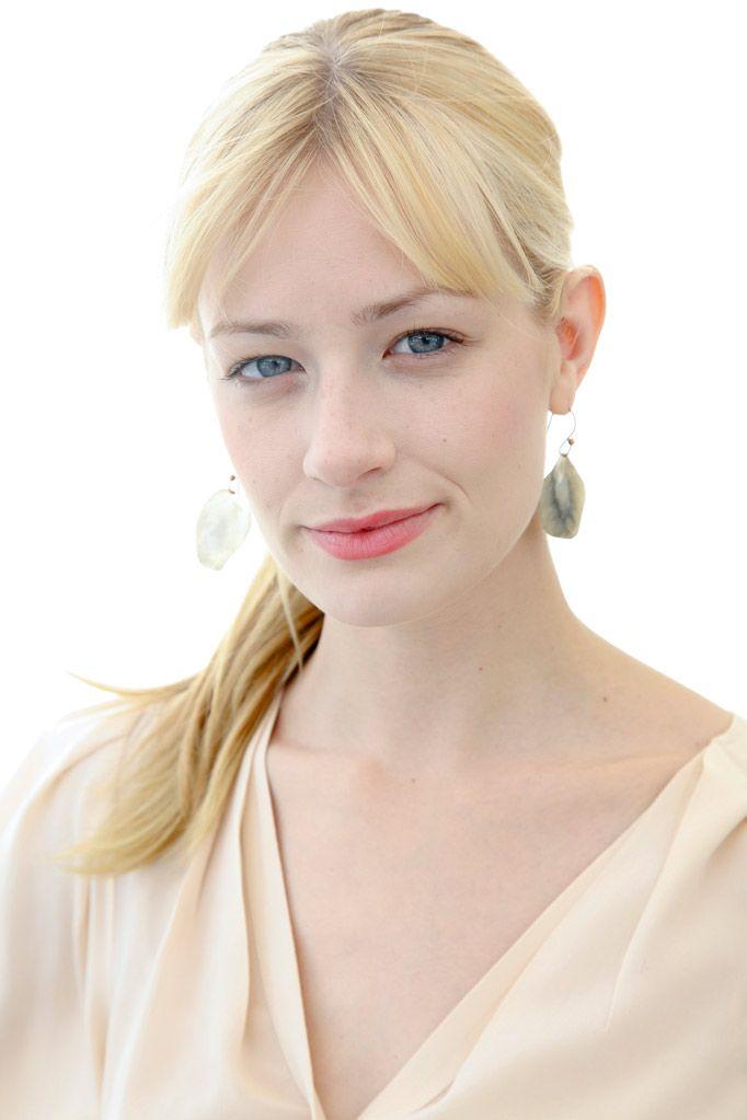 Pale Beauty Portrait Of Blond Woman Stock Image: Beth Behrs - Pale Beauty
