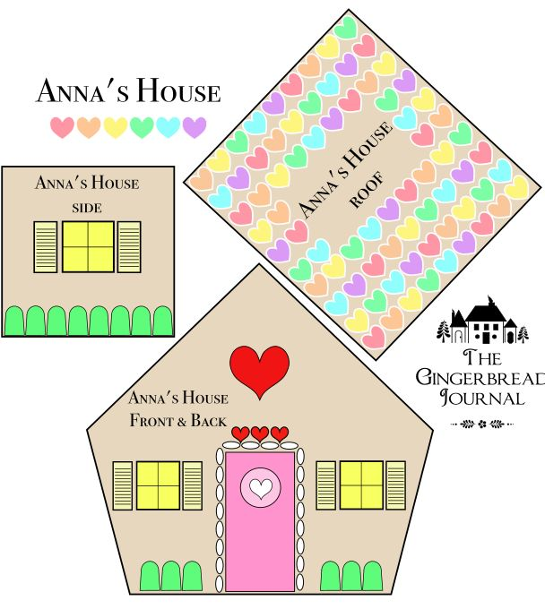 Free Pattern for Anna's Gingerbread House          To download the .pdf files, click on the links below.          Anna's House Front and Back          Anna'…