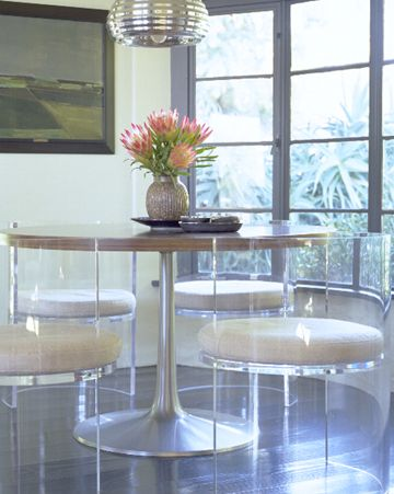 Acrylic dining room chairs