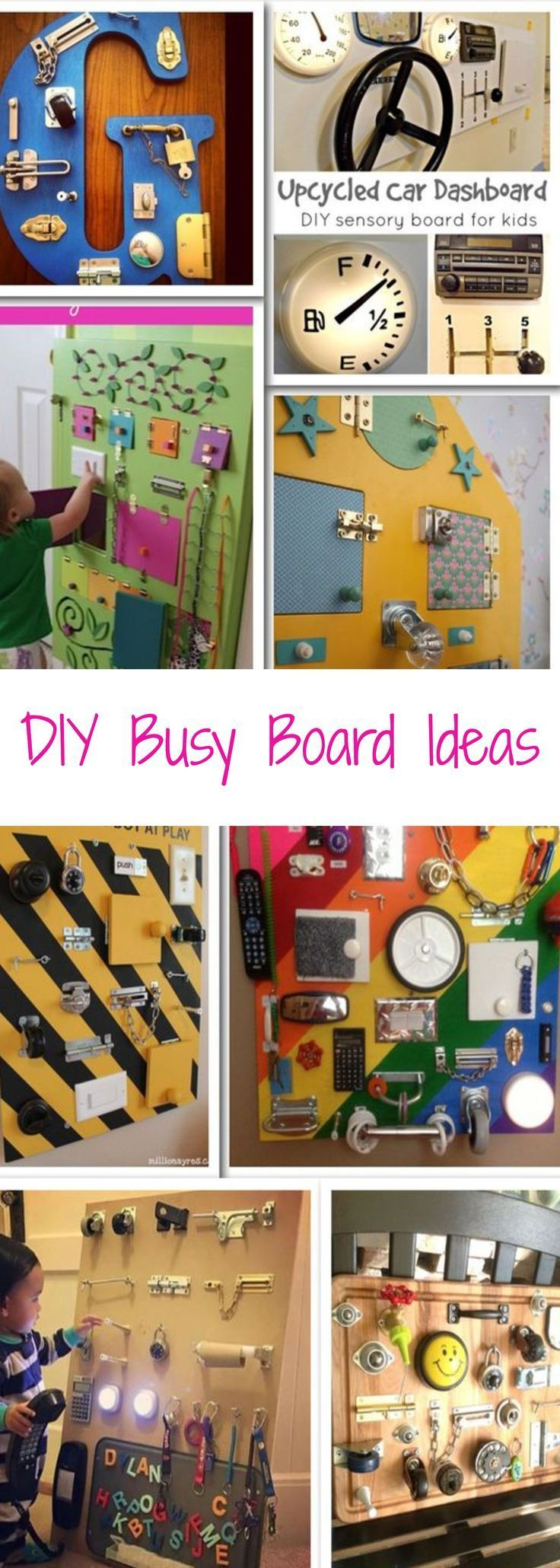 NEW: Sensory Board PICTURES! 16+ DIY Toddler Busy Boards for 2019