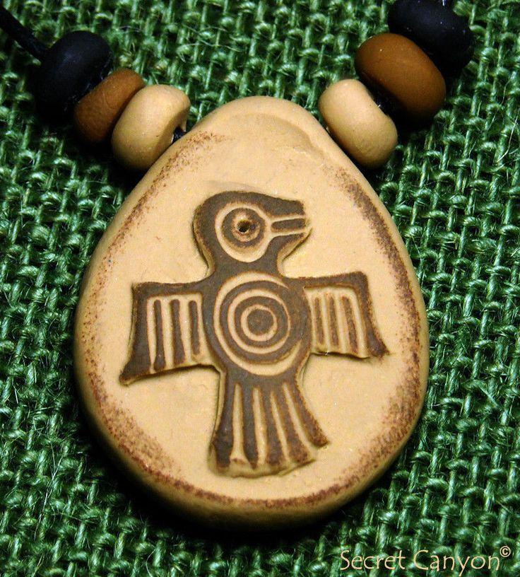 Hopi Thunderbird Handmade Native American Petroglyph Pendant ...
