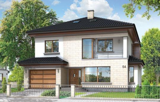 Projekt Vega to piętrowy dom jednorodzinny dla rodziny cztero-pięcioosobowej, przykryty kopertowym dachem. Miejska willa, charakteryzująca się nowoczesną acz powściągliwą architekturą. Budynek został zaprojektowany na niewielką działkę, gdzie można zabudować małą powierzchnię a bryła domu musi być maksymalnie zwarta. W piwnicy ukryto pomieszczenia techniczne, dzięki czemu przestrzeń dzienna może zając całość parteru - poza garażem wbudowanym w bryłę domu.