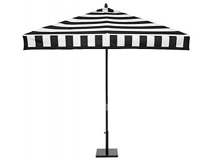 Great black and white outdoor umbrella by Z Gallerie. Perfect for summer parties.
