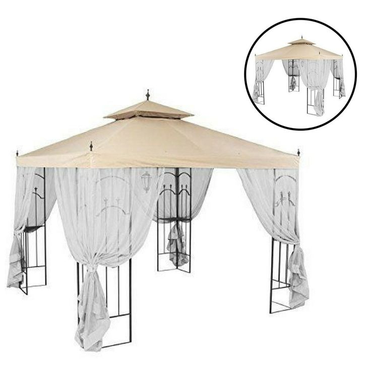 Gazebo Replacement Canopy Patio Outdoor Garden Cover Yard Sunshade Waterproof #Unbranded