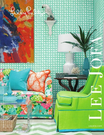Lilly Pulitzer for Lee Jofa: Idea, Living Rooms, Lilly Pulitzer, Lee Jofa, Color, Interiors Design, Fabrics, House, Green Chairs
