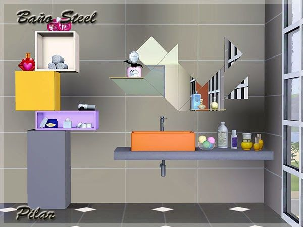 Steel Bathroom By Pilar Sims 3 Downloads Cc Caboodle The Sims 3