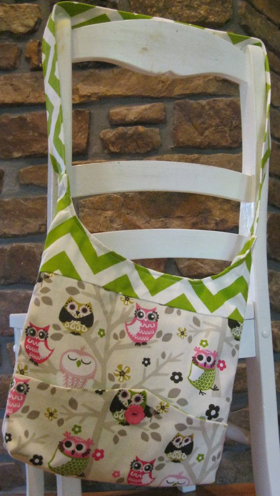 Handmade Fabric Bags Purses - Shoulder bag  - Owl and Chevron Pattern Fabric - Happy Mother's Day