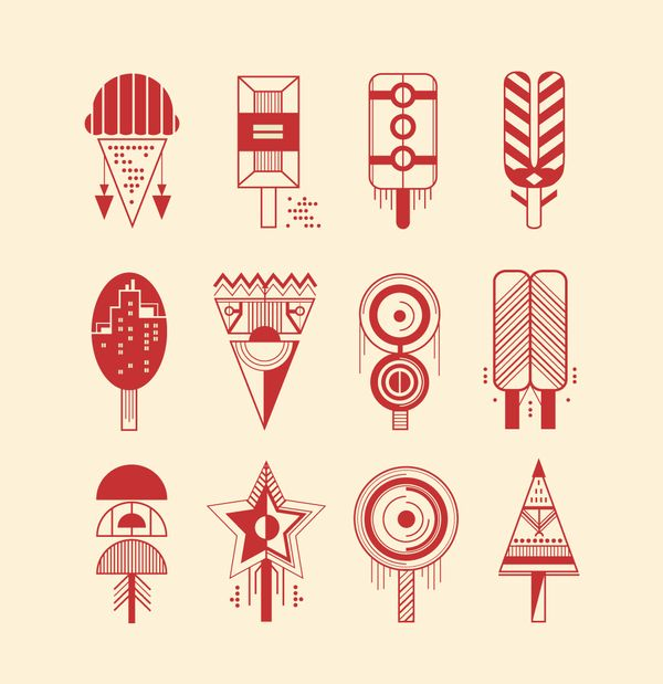 I'm such a sucker for geometry.    McJunky by Petros Afshar, via Behance