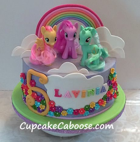 my little pony cake    rainbow cake