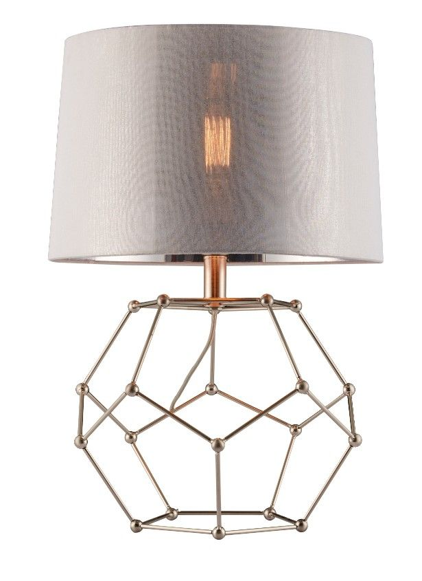 Deep Lighting Chrome Fixture With Outside White Fabric And Inside Silver Pvc Table Lamp Shade Size 35 Wall Lamp Shades Painting Lamp Shades Antique Lamp Shades