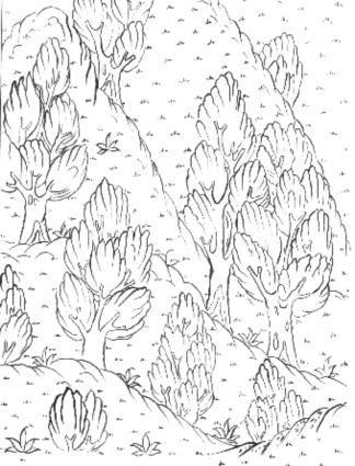 Cahide Keskiner - Minyatür Sanatında Doğa Çizim ve Boyama Teknikleri  Siyer-i Nebi'den detay çizim
