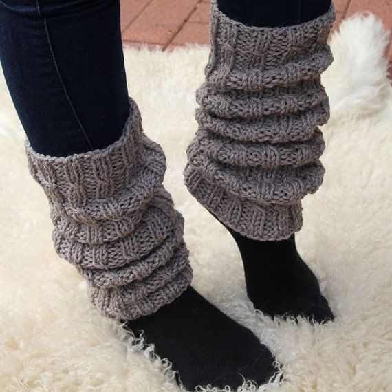 Light brown wool leg warmers for women by HandcraftedFinland, €35.00