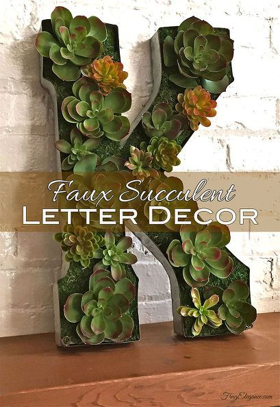 succulent letter craft, crafts, home decor, how to, succulents. I think real succulents like this in a garden would be awesome.