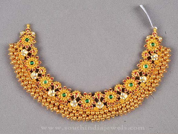 Heavy Antique Gold Choker Necklace, Gold Antique Heavy Choker Necklace, Heavy Gold Choker Necklace Designs.