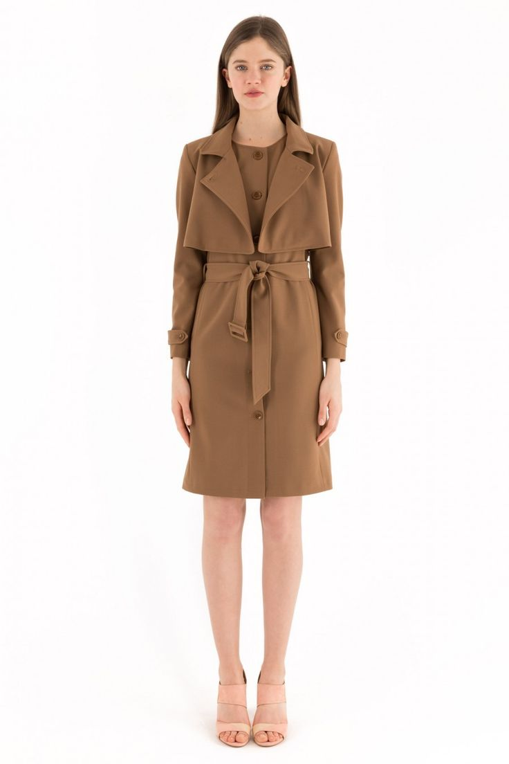 Completo abito giacca effetto trench