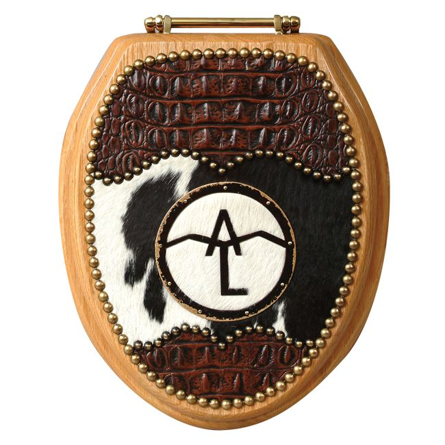 Personalized Brand Western Toilet Seat from Lone Star Western Decor | Stylish Western Home Decorating