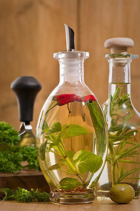 Oil and fresh Herbs