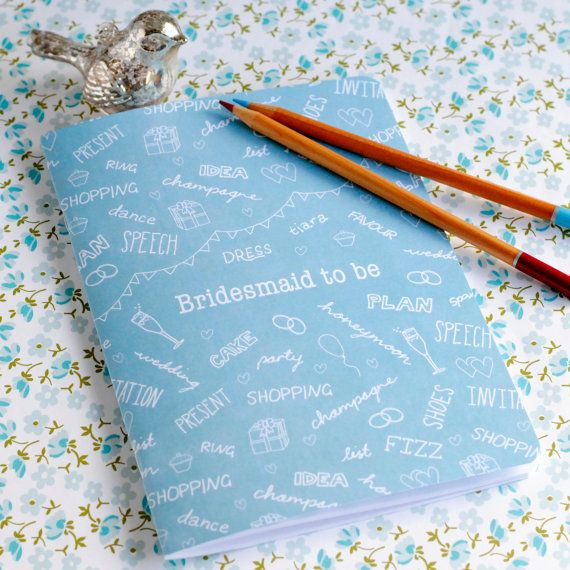 Bridesmaid to be A5 Notebook by thegreengables on Etsy, £4.50