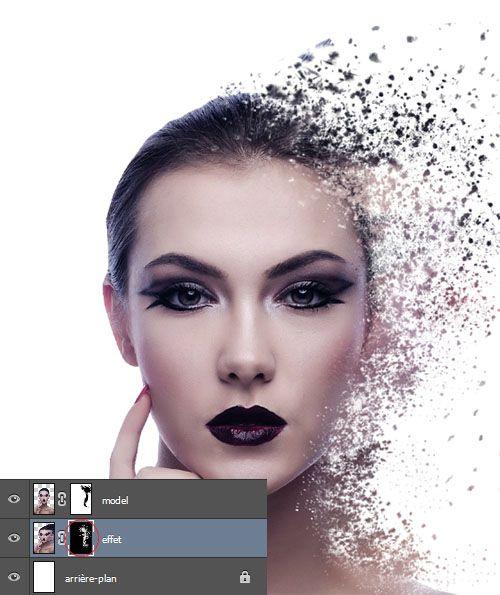 tuto effet de désintegration avec photoshop