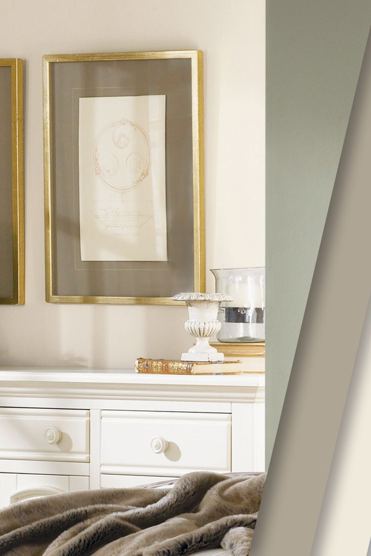 Soft hints of gold and white create the feeling of for Neutral gold paint color