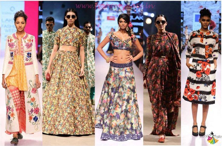 LFW 2015 Top Indian fashion Trends spring summer Vintage florals