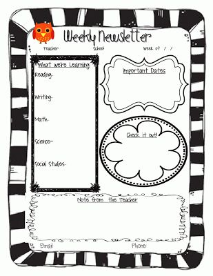 13 best Preschool Newsletters images on Pinterest