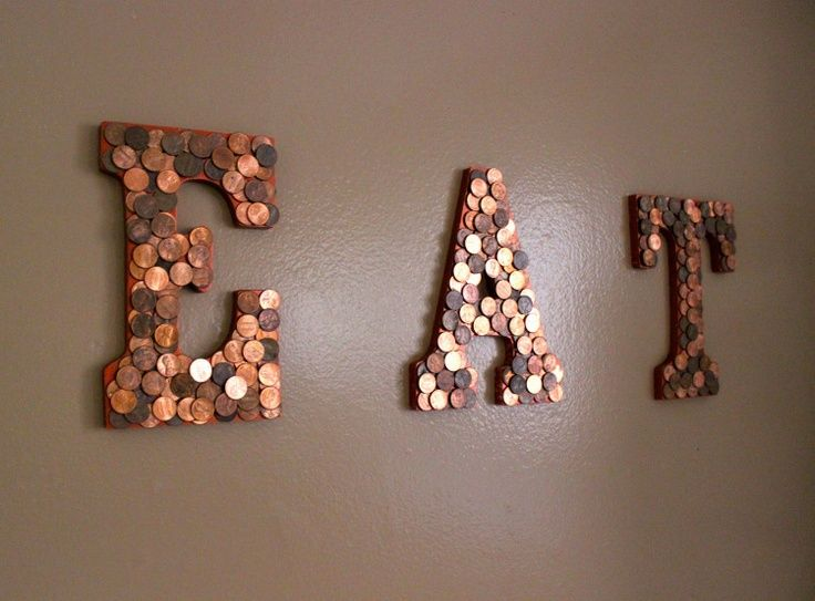 diy penny decor letters -