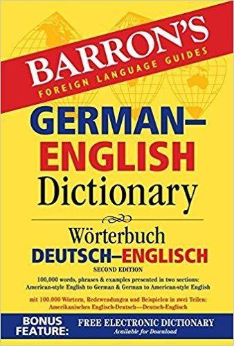 Barron's German-english Dictionary Barron's Bilingual Dictionaries 2 Revised
