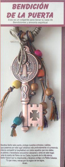 Bendición para la Puerta - Casa o Negocio - Llave de San Benito - Color Cobre