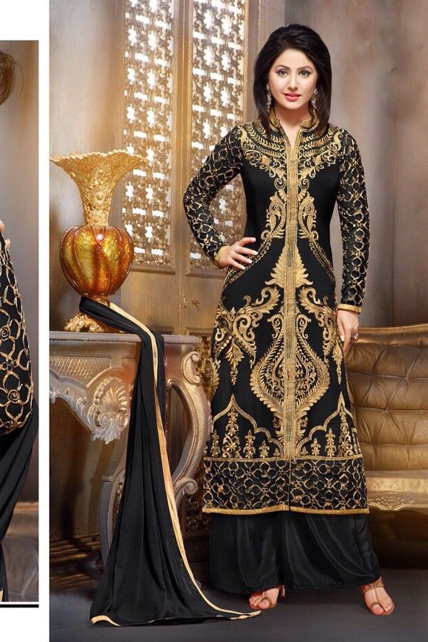 Hina Khan - Black Faux Georgette Salwar Kameez with Embroidered and Lace Work - Z2588P55010-f-40 #celebrity #salwar #kameez @ http://zohraa.com/salwar-kameez.html #celebrity #zohraa #onlineshop #womensfashion #womenswear #bollywood #look #diva #party #shopping #online #beautiful #beauty #glam #shoppingonline #styles #stylish #model #fashionista #women #lifestyle #fashion #original #products #saynotoreplicas