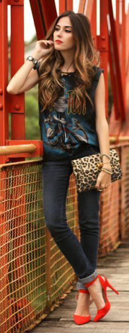 Black Multi 'ac-dc' Graphic Tank by Fashion Coolture