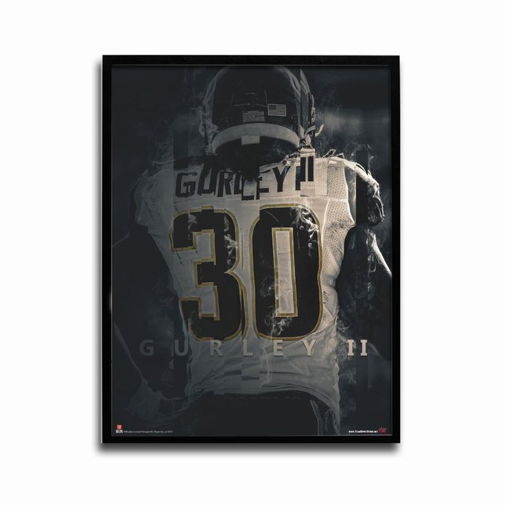 Los Angeles Rams Todd Gurley Ram Ahead 24x18 Football Poster