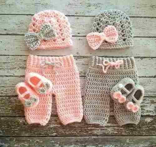 conjunto para bebe tejido al crochet $550