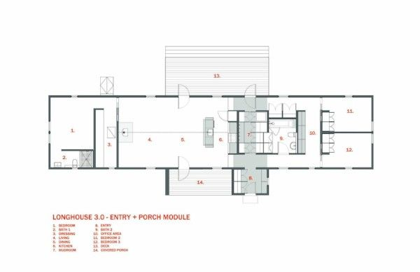 Longhouse Floor Plan With Porch By 30x40 House With Porch Floor Plans How To Plan